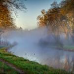 Morgennebel am Kanal in Templin