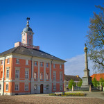Historisches Rathaus von Templin auif dem Marktplatz