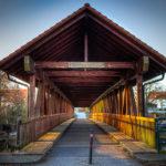 """Frontseite der Pionierbrücke mit Blick in Richtung """"Am Weinberg"""""""