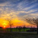 Sonnenuntergang an der Kurmeile