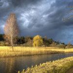 Wolken am Templiner Kanal