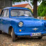 Blauer Trabant