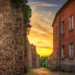 Gasse an der Stadtmauer vom Berliner Tor aus gesehen