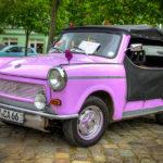Fliederfarbenes Trabant Cabrio