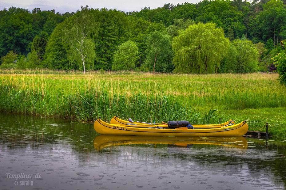 Kanus am Templiner Kanal
