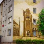 Wandbild am Giebel eines Wohnblocks in der ErnstThälmannstraße
