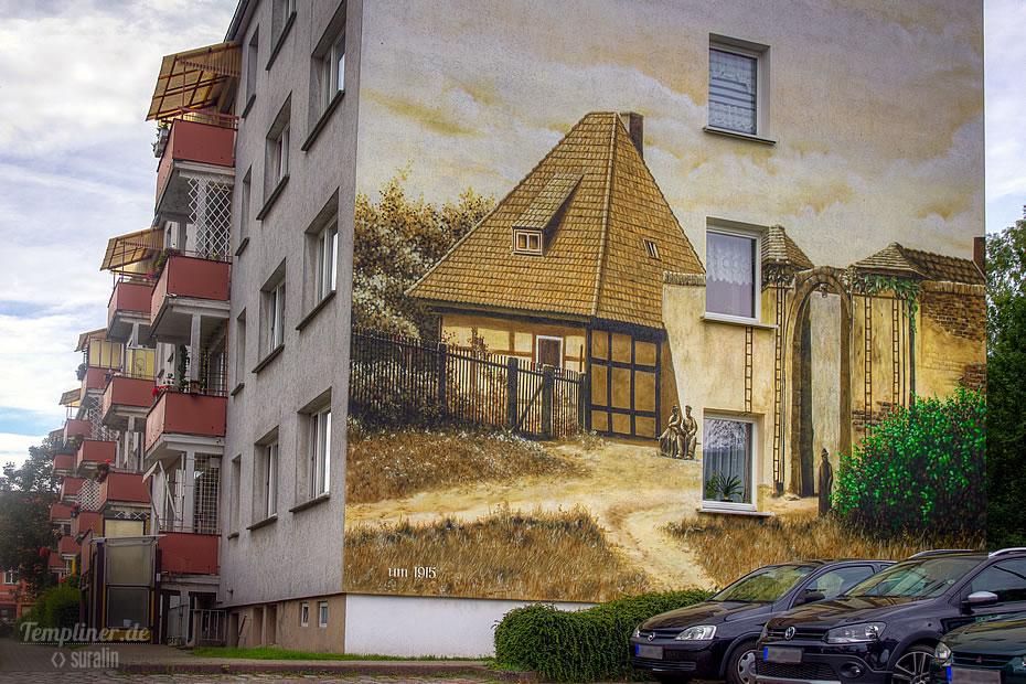 Wandbild Wohnblock am Pulverturm (Akzisehaus)