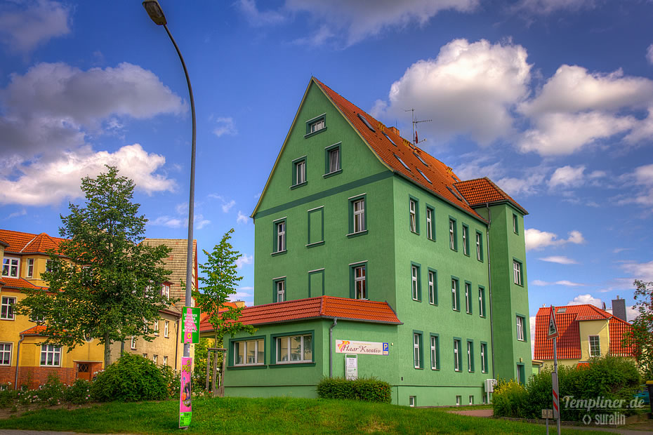 Grünes Haus am Beethovenplatz in Templin