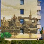 Wandgestaltung Obere Mühlenstraße (Kanalblick)