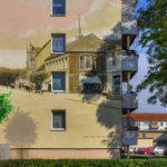 Wandgestaltung Wohnblock Obere Mühlenstraße (Markt+Mühlenstraße um, 1890)