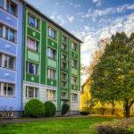 Neu gestalteter Wohnblock in der Prenzlauer Allee