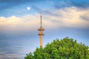 Mondaufgang über Templin