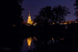 Templin bei Nacht - Ansicht vom Kanal aus