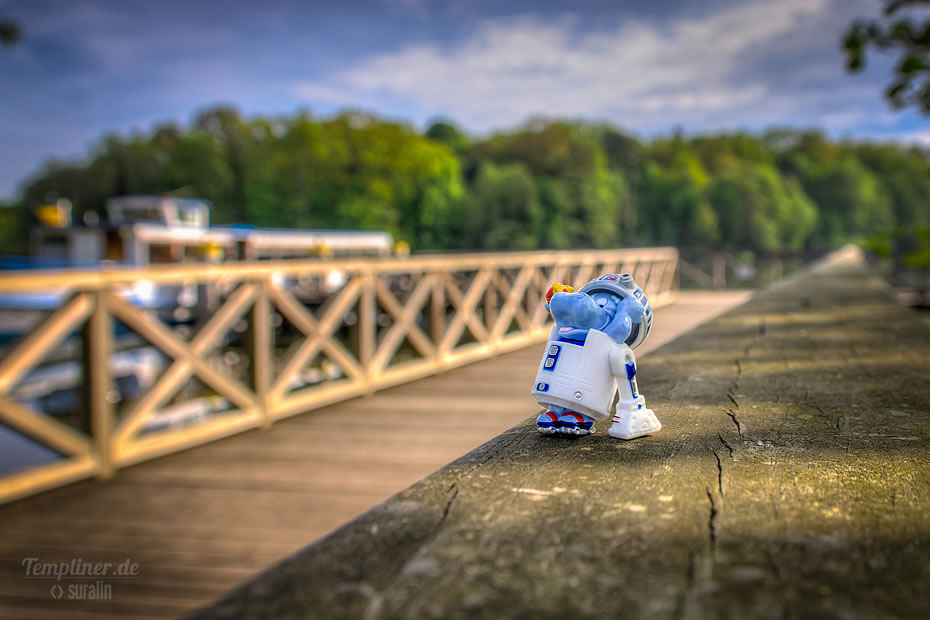 """Die StarWars Figur aus dem Happy Hippo Figur: """"Erzwo Hippo"""" (R2 D2)"""